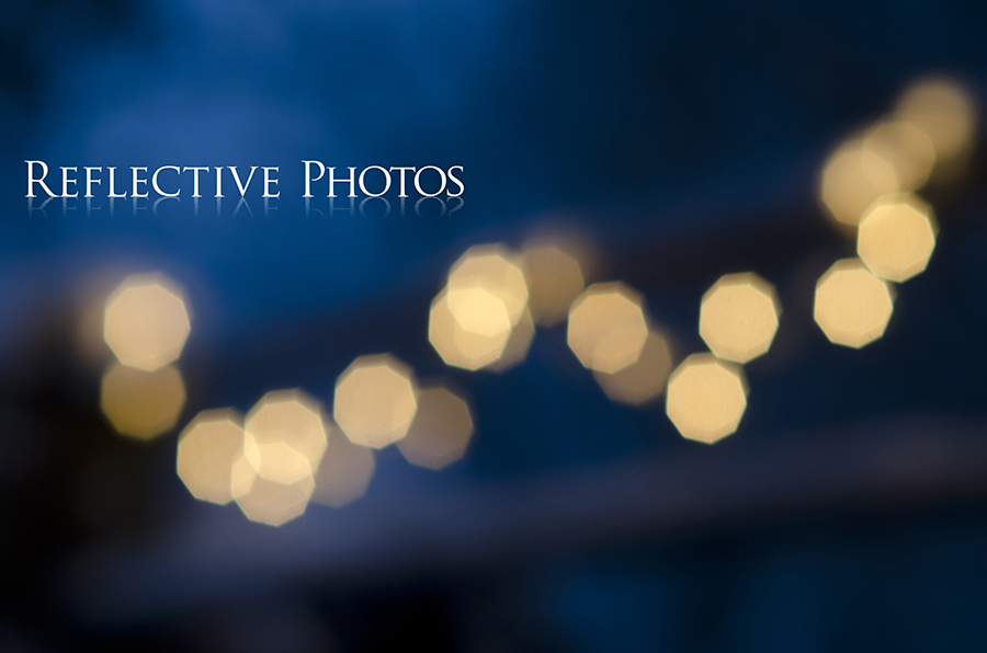 String Light Bokeh at Twilight